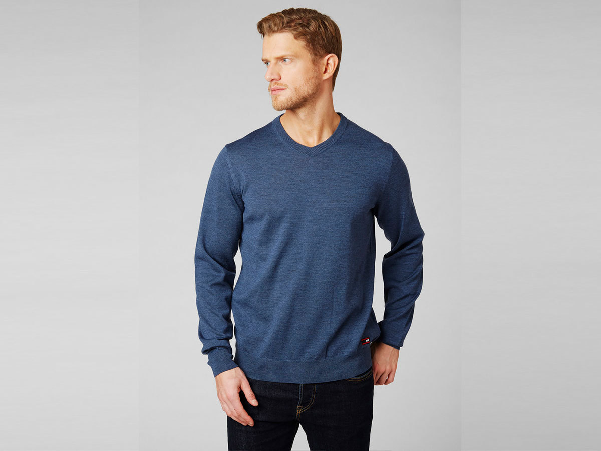 Helly Hansen SKAGEN MERINO SWEATER - NORTH SEA BLUE - XXL (33997_603-2XL )