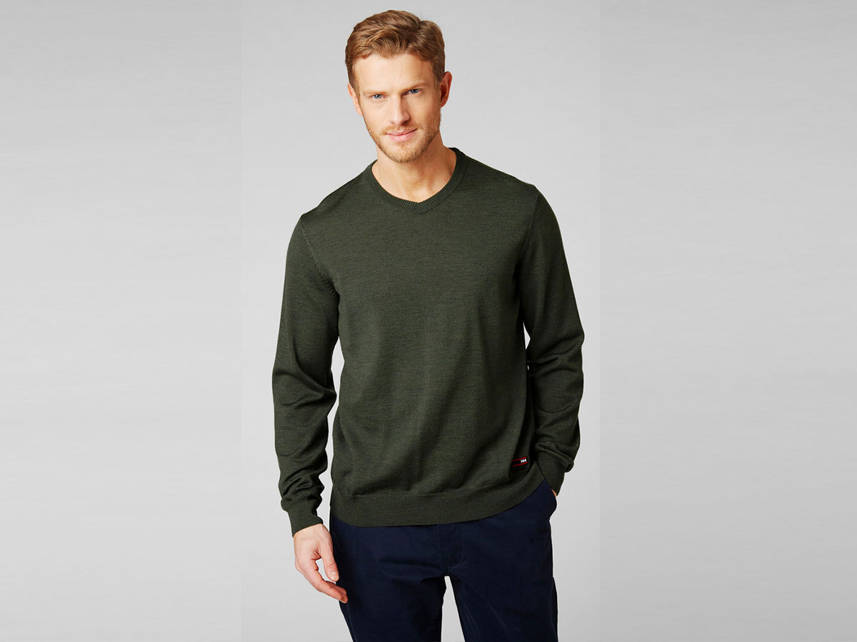 Helly Hansen SKAGEN MERINO SWEATER - FOREST NIGHT - XXL (33997_469-2XL )