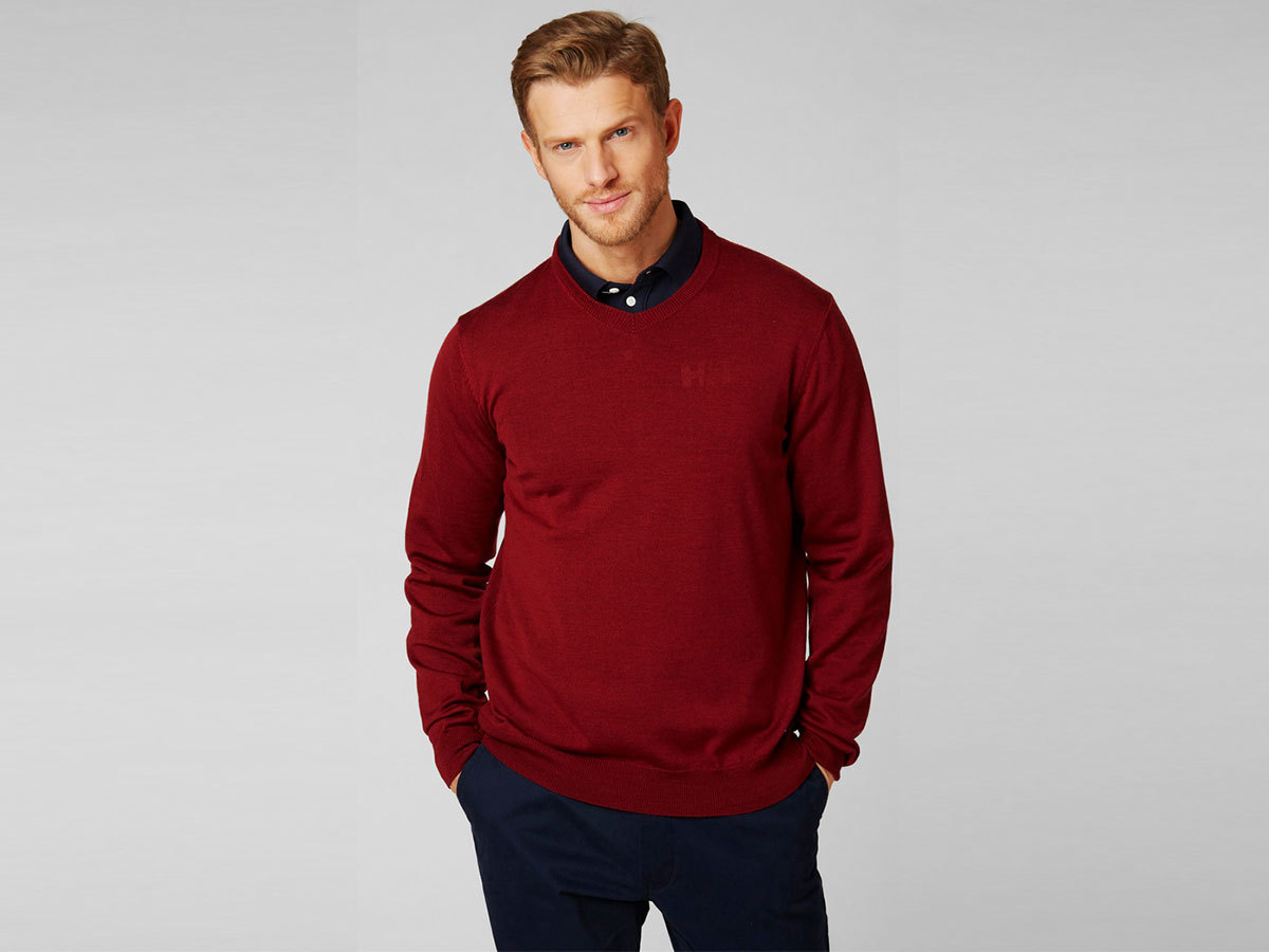 Helly Hansen SKAGEN MERINO SWEATER - OXBLOOD - S (33997_215-S )