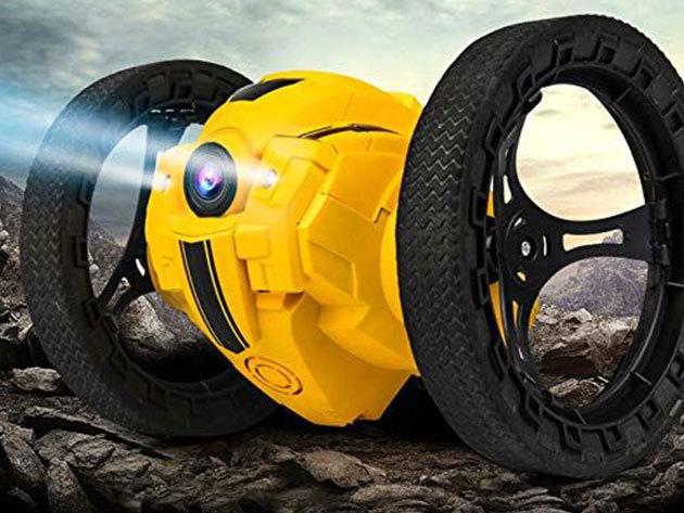 Drónok - csuklóról irányítható 4 tengelyes mini drón / ugráló drón, távirányítós autó, jumping set