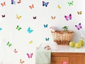 Pillangók falmatrica (A hordozó íven 20 pillangó van, a legnagyobb pillangó 17x16 cm, a legkisebb 9x5 cm)