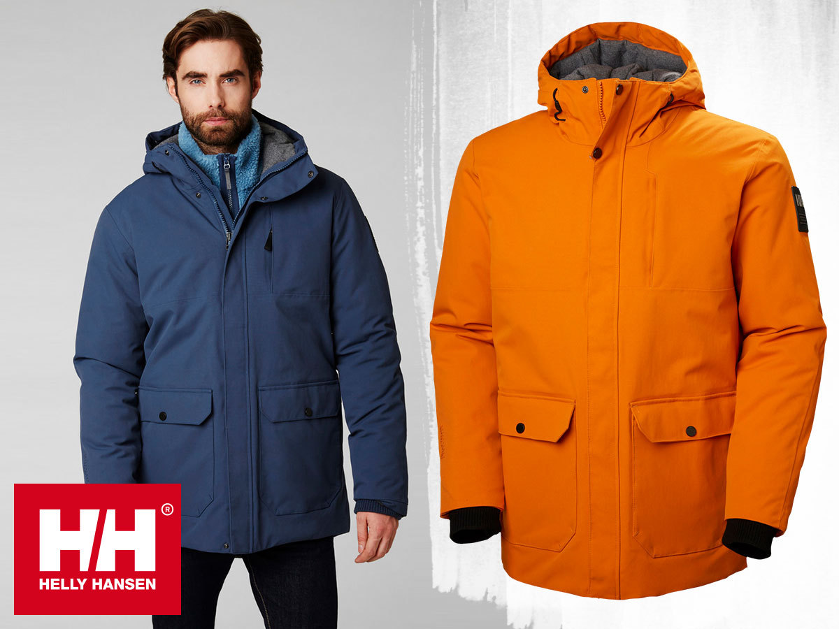 Helly Hansen URBAN LONG JACKET férfi kapucnis bélelt téli kabát a leghidegebb napokra - vízálló, szélálló, lélegző (S-XXL)
