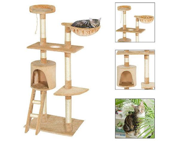 Macska mászóka, mely tökéletes pihenést biztosít kiskedvenced számára, többféle játék lehetőséggel