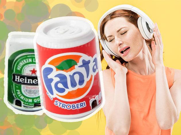 Üdítő alakú mini mp3 lejátszó + fülhallgató / Microsd kártya, pendrive, vagy mobil telefon mp3 zenéit képes lejátszani