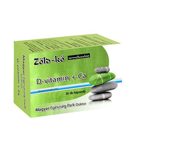 Zöld-kő D-vitamin + Ca kapszula (3 doboz, 3x30 db)