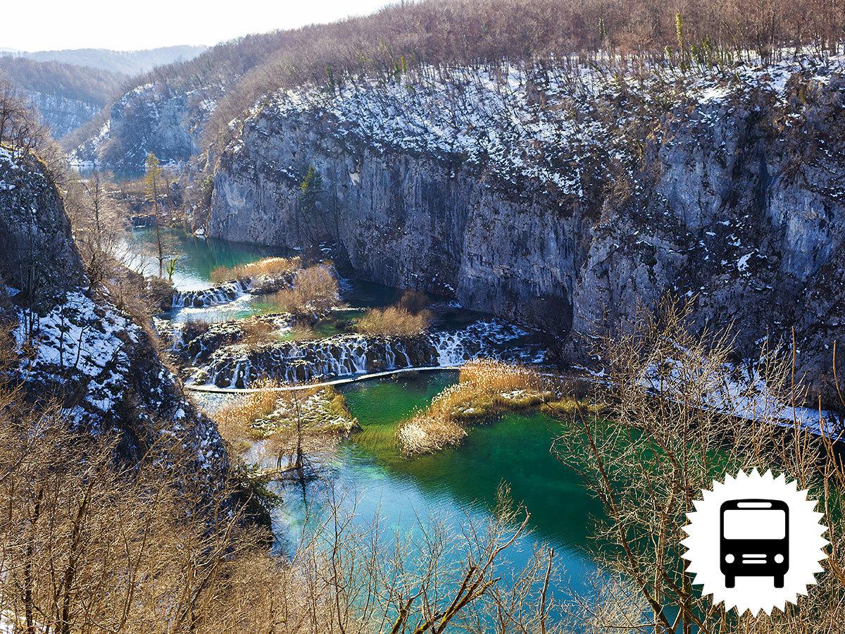 Plitvicei tavak télen - buszos kirándulás februárban Horvátország káprázatos tórendszeréhez / fő
