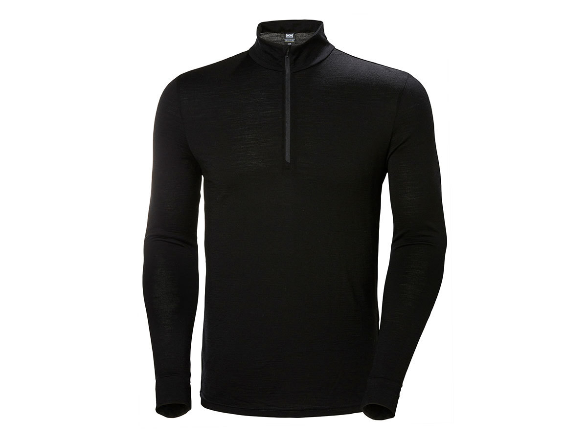 Helly Hansen HH MERINO MID 1/2 ZIP - BLACK - XXL (48356_991-2XL )