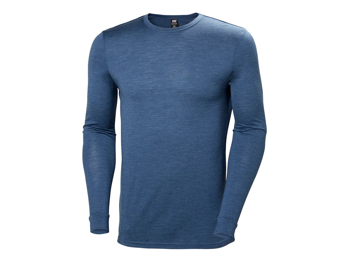Helly Hansen HH MERINO MID LS - NORTH SEA BLUE MELANGE - XXL (48355_604-2XL )