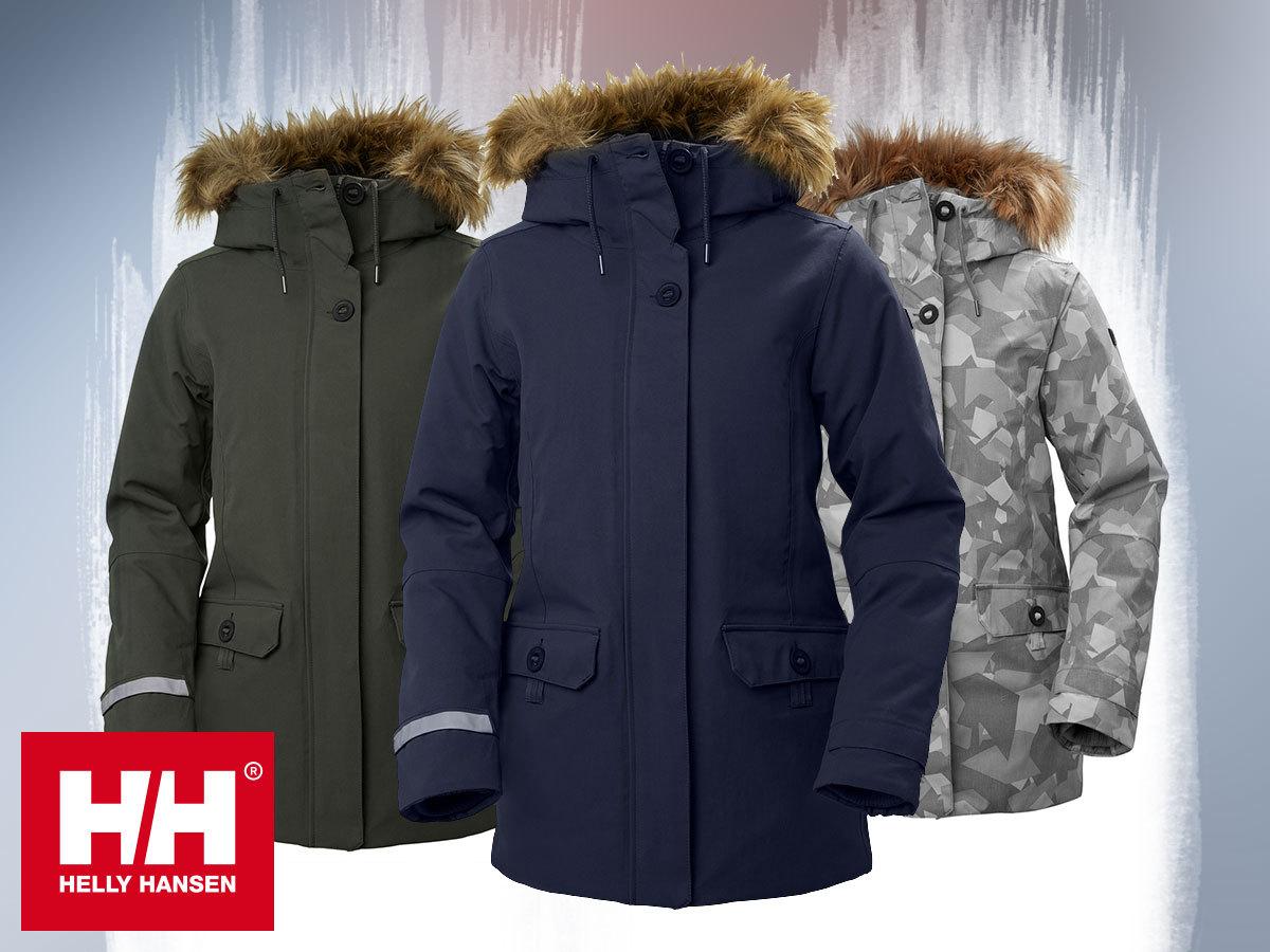 Helly Hansen prémium női téli kabátok kapucnival W SVALBARD 2 PARKA Primaloft® Black béleléssel, HellyTech® Protection vízálló, szélálló, lélegző anyag