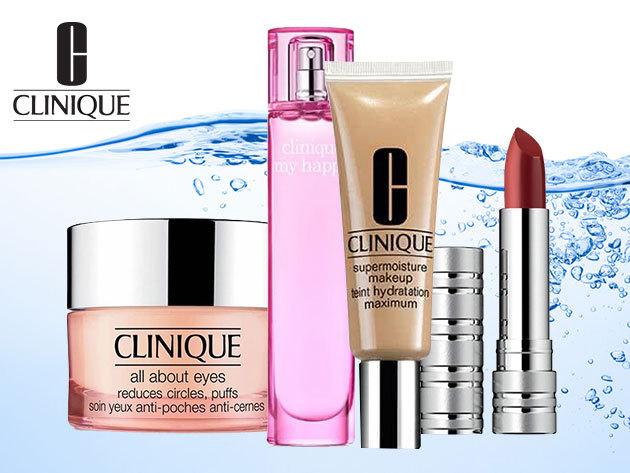 Clinique kozmetikai termékek - szemkörnyékápoló, alapozó, rúzs és parfüm - ingyenes kiszállítással
