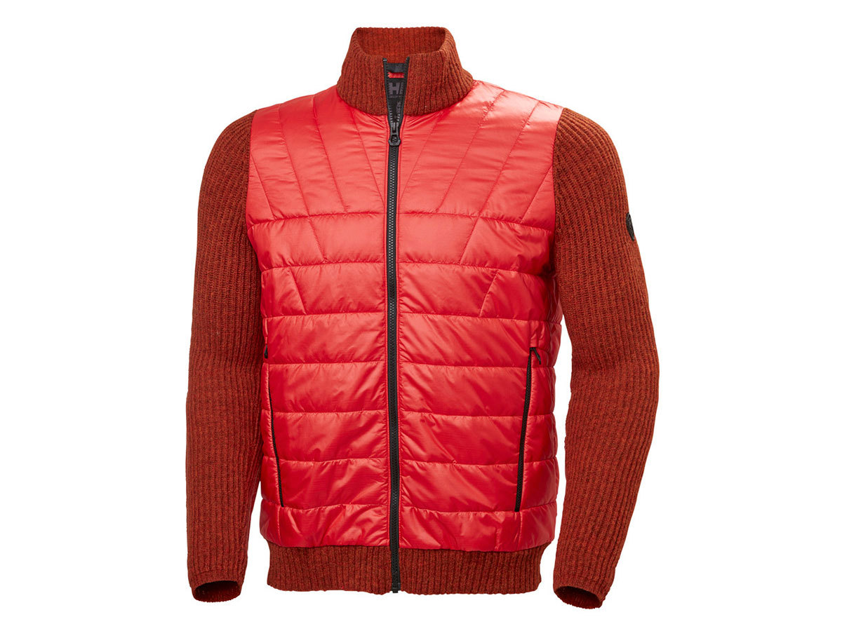 Helly Hansen HOD HYBRID KNIT JACKET - ALERT RED - L (65694_222-L )