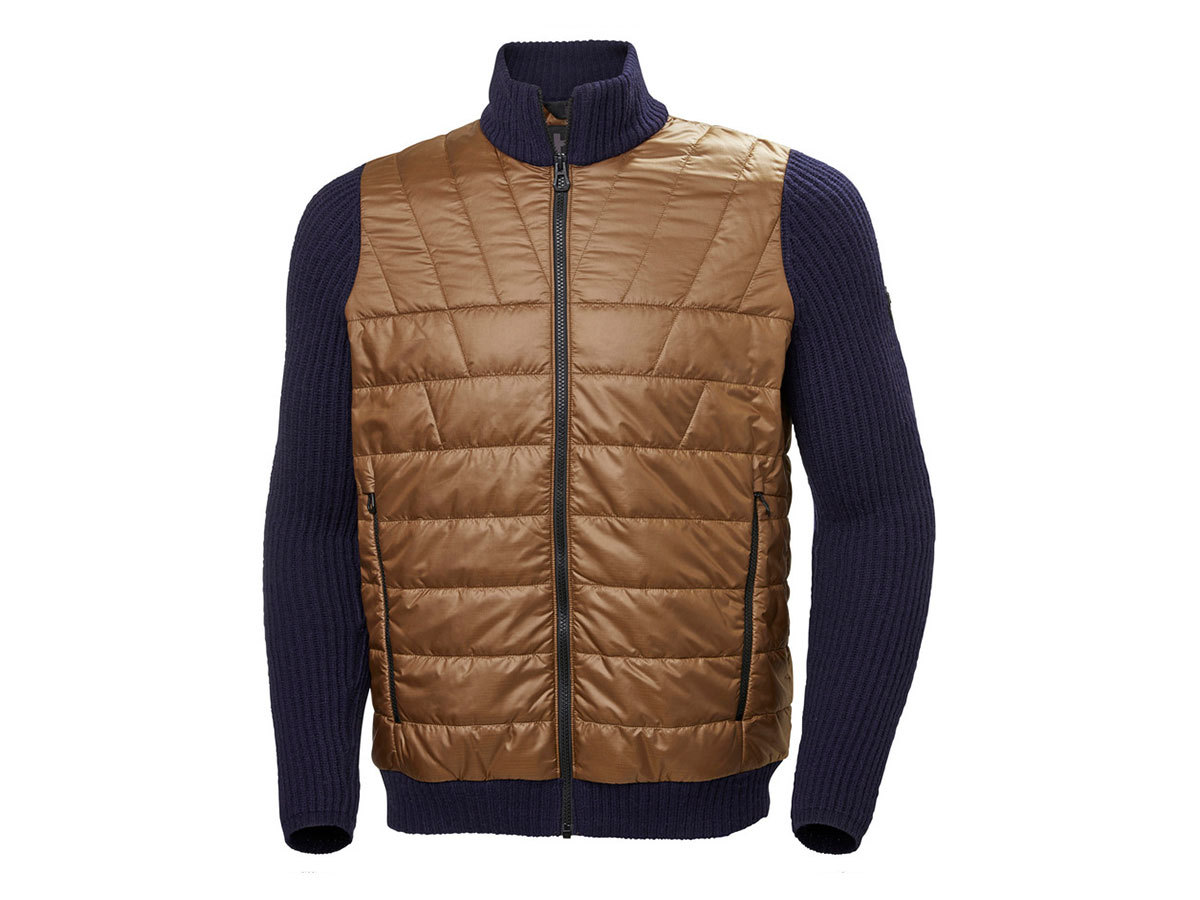 Helly Hansen HOD HYBRID KNIT JACKET - BARK BROWN - L (65694_763-L )