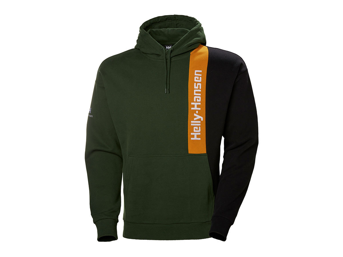 Helly Hansen YU BLOCKED HOODIE - MOUNTAIN GREEN - XXL (53386_454-2XL )