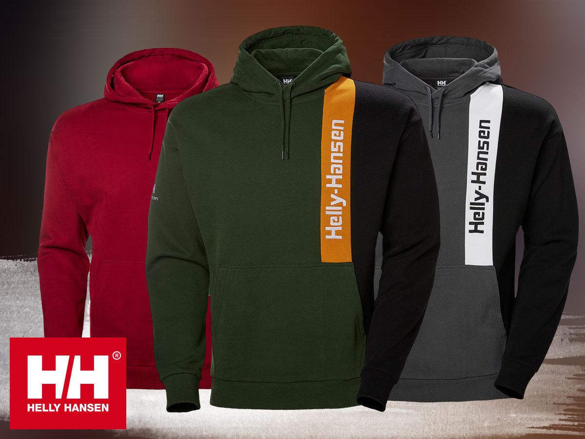 Helly Hansen YU BLOCKED HOODIE kapucnis, kényelmes, meleg férfi pulóver pamutból XS-XXL méretben