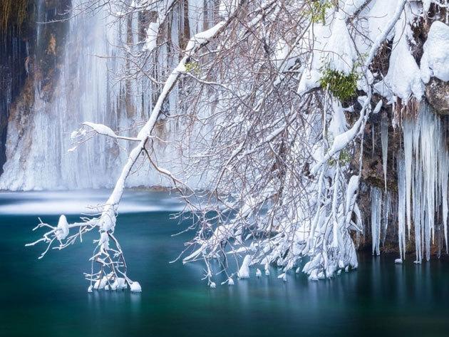 2020. február 1. Plitvice hópaplan alatt - buszos utazás / fő
