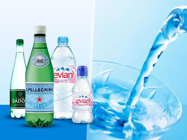 Ásványvíz válogatás a minőség jegyében: Evian, Badoit és San Pellegrino!
