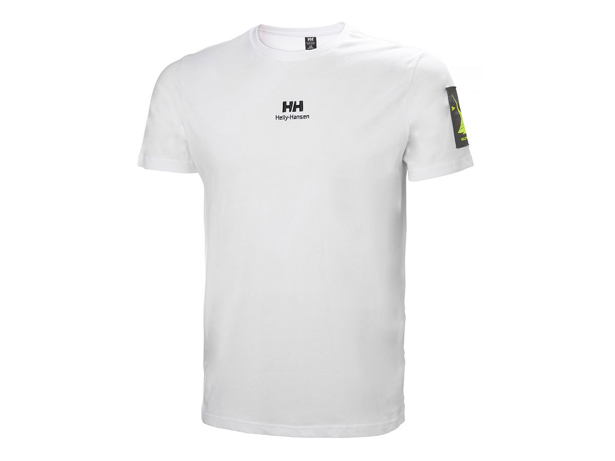Helly Hansen YU TWIN LOGO T-SHIRT - WHITE - L (53391_002-L )
