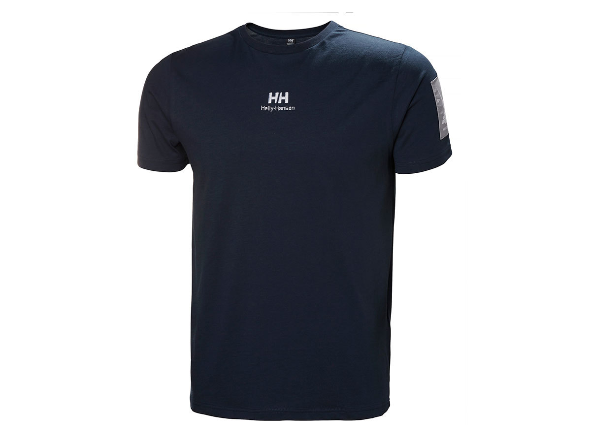 Helly Hansen YU TWIN LOGO T-SHIRT - NAVY - M (53391_597-M )