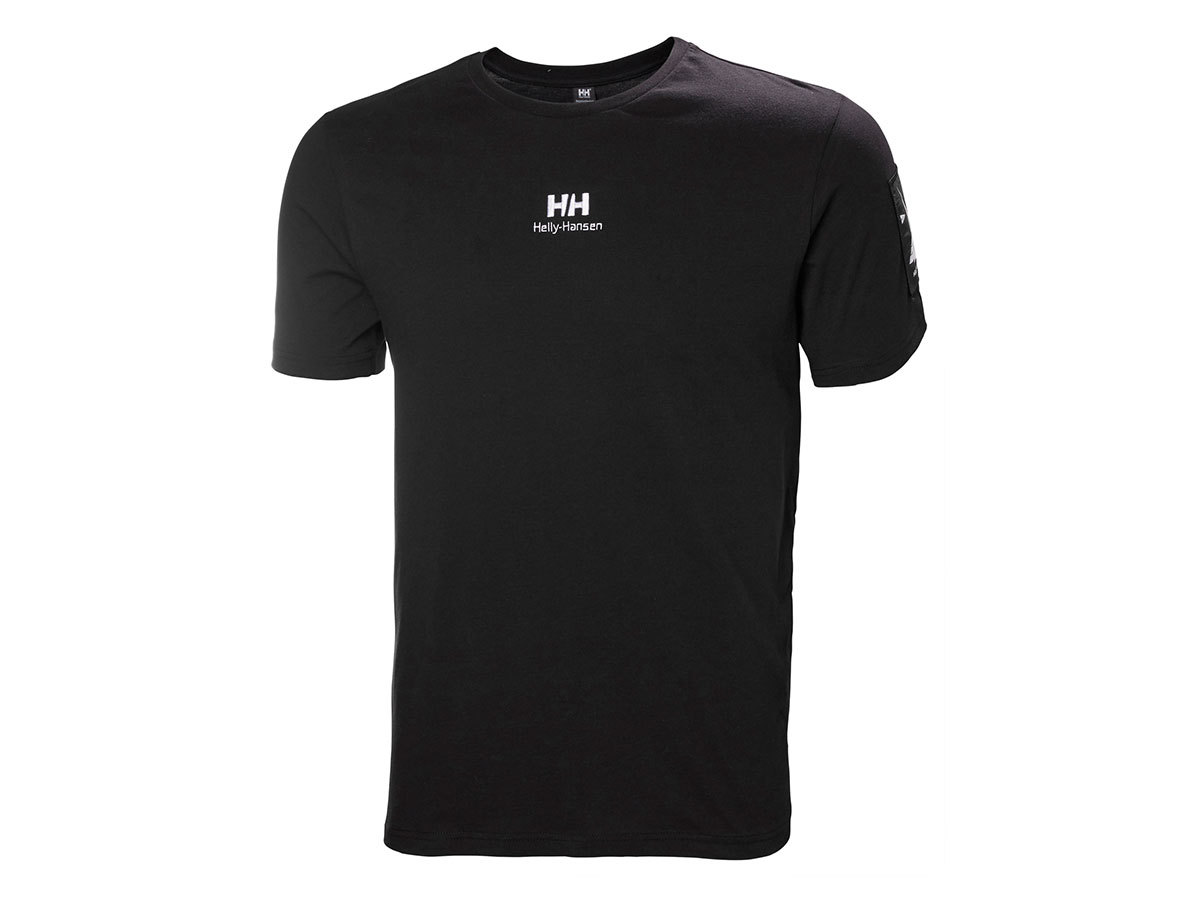 Helly Hansen YU TWIN LOGO T-SHIRT - BLACK - L (53391_990-L )