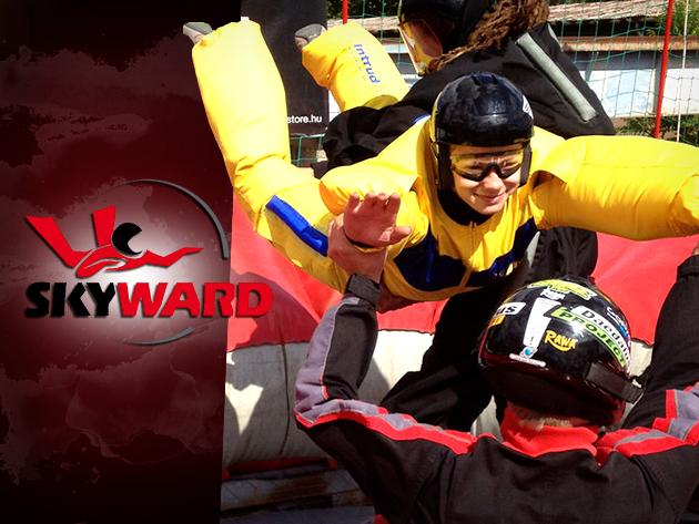 Szabadesés szimuláció a SkyWard szélcsatornában, és felkészítő DVD film 14.000 Ft-ért!