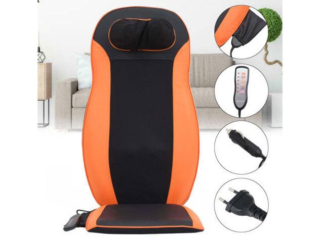 Relax masszázs ülésbetét melegítő funkcióval, hálózati adapterrel és szivargyújtó csatlakozóval - a hát és a nyak masszírozására otthon, az irodában vagy utazás közben