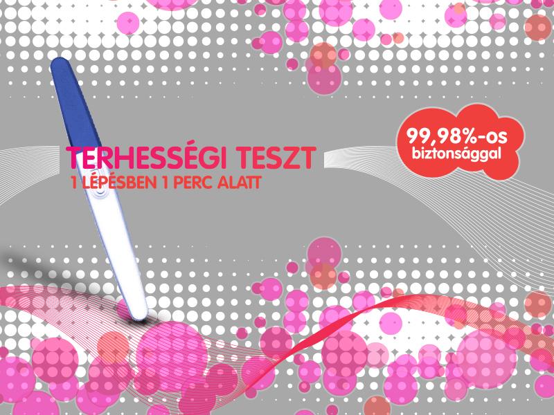 Terhességi Teszt biztos eredmény 1 lépésben, 1 perc alatt!