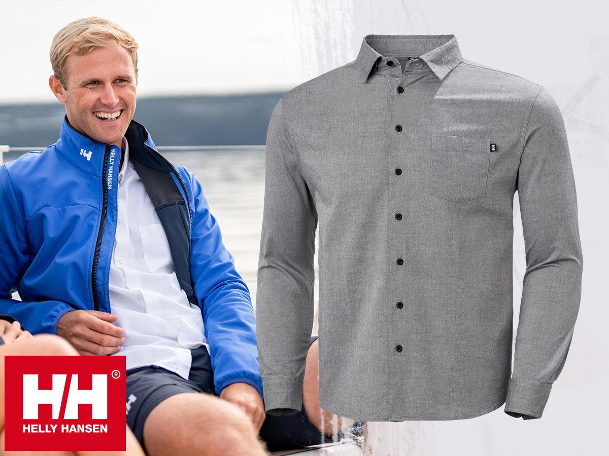 Helly Hansen CREW CLUB LS SHIRT férfi oxford pamut ing - klasszikus, kifinomult stílus