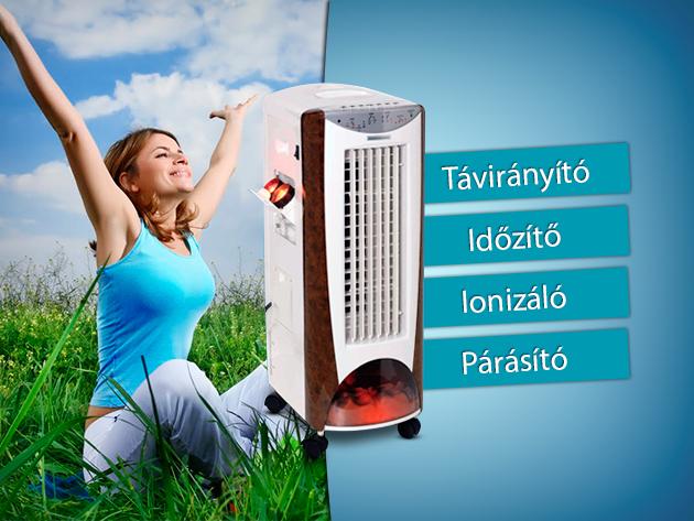 Mozgatható klíma készülék hűtő, fűtő, ionizáló és párásító funkcióval!