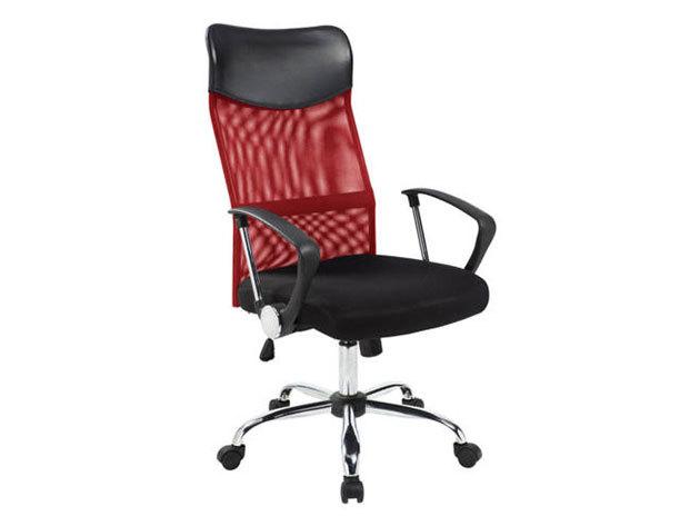 Ergonomikus irodai szék magasított háttámlával - piros HOP1000998-2
