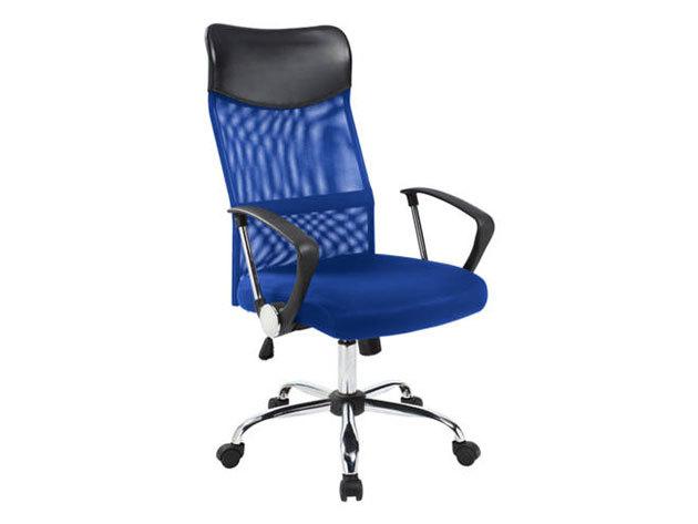 Ergonomikus irodai szék magasított háttámlával - kék HOP1000998-3