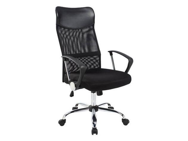 Ergonomikus irodai szék magasított háttámlával - fekete HOP1000998-1