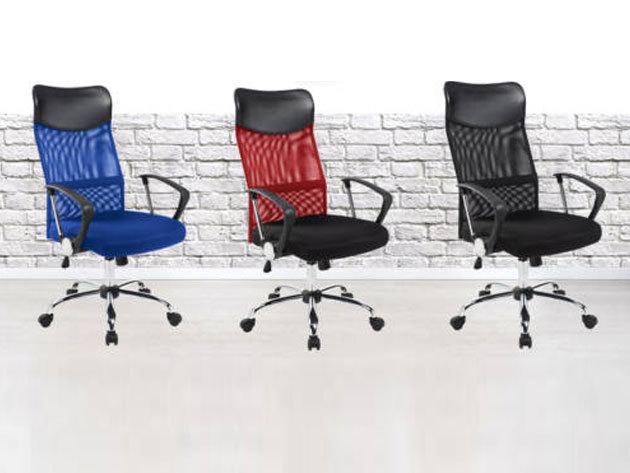 Ergonomikus irodai szék magasított háttámlával, 3 színben - állítható magasság (gázliftes)