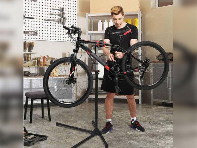 Kerékpár javító állvány ajándék szerszámtartóval / összecsukható, 35 kg-os teherbírás