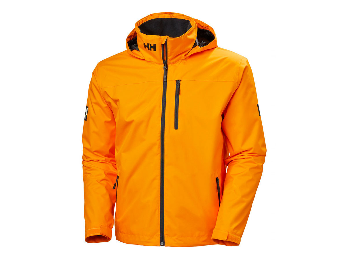 Helly Hansen CREW HOODED MIDLAYER JACKET - PAPAYA - XXXXL (33874_322-4XL )