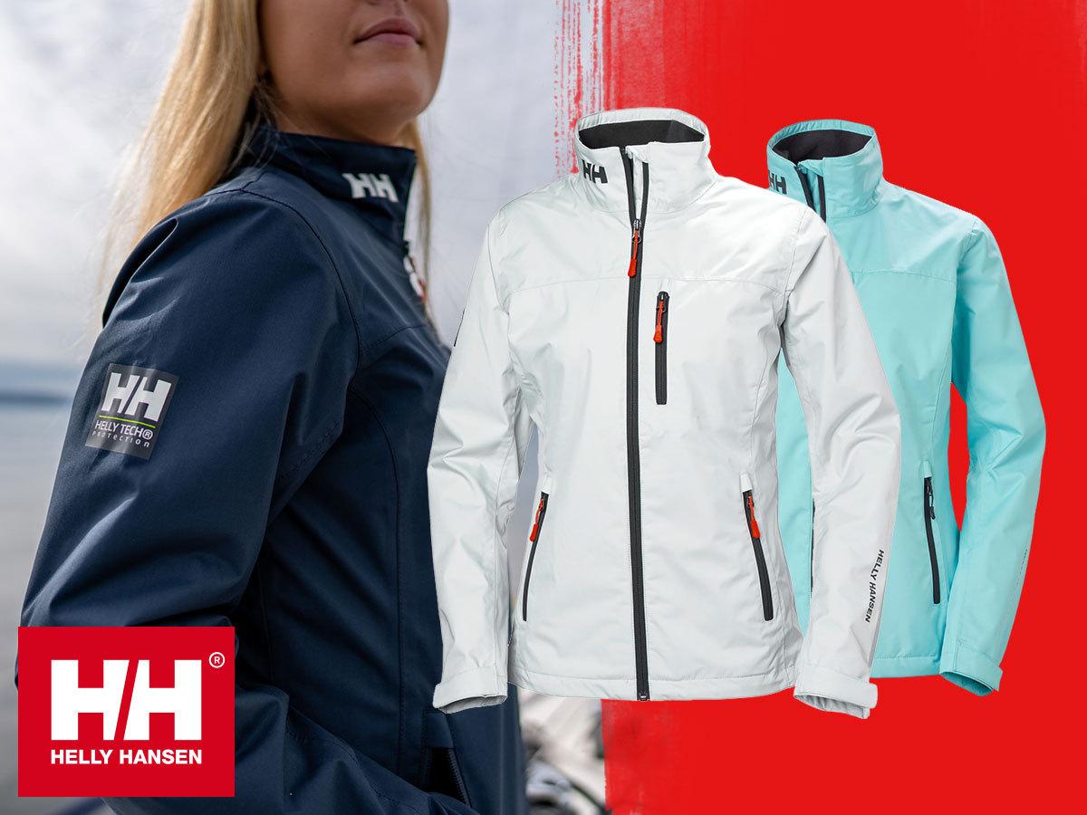 Helly Hansen W CREW JACKET női dzseki időtlen dizájnnal - vízálló, szélálló, lélegző shell szövetből