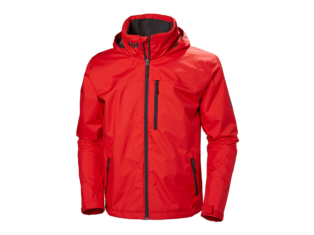 Helly Hansen CREW HOODED JACKET - ALERT RED - M (33875_222-M )