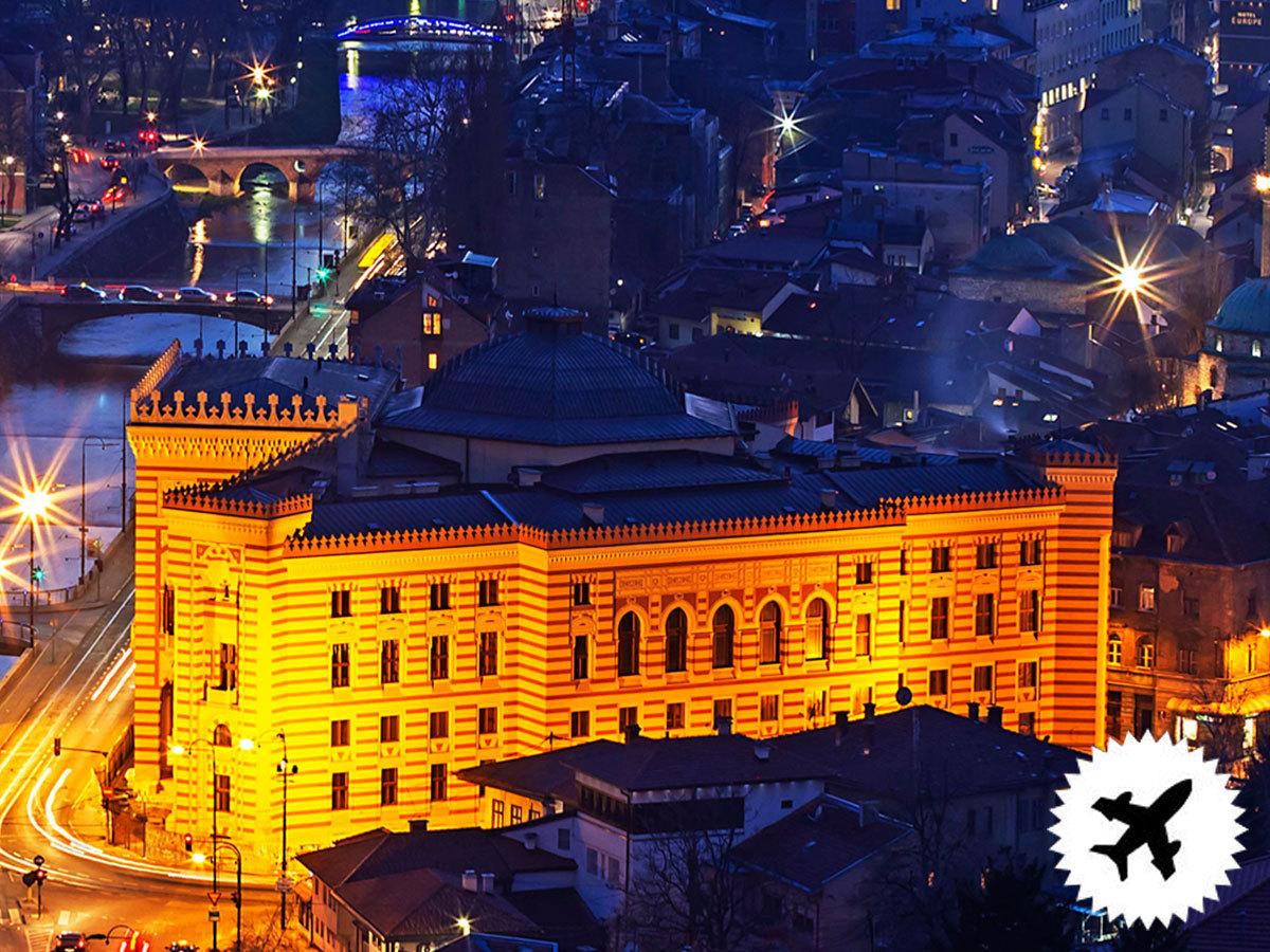 Sarajevo, utazás repülővel - 4 nap / 3 éjszaka 3*-os szállodában, reggelivel, idegenvezetéssel, repülőjeggyel és illetékekkel / fő
