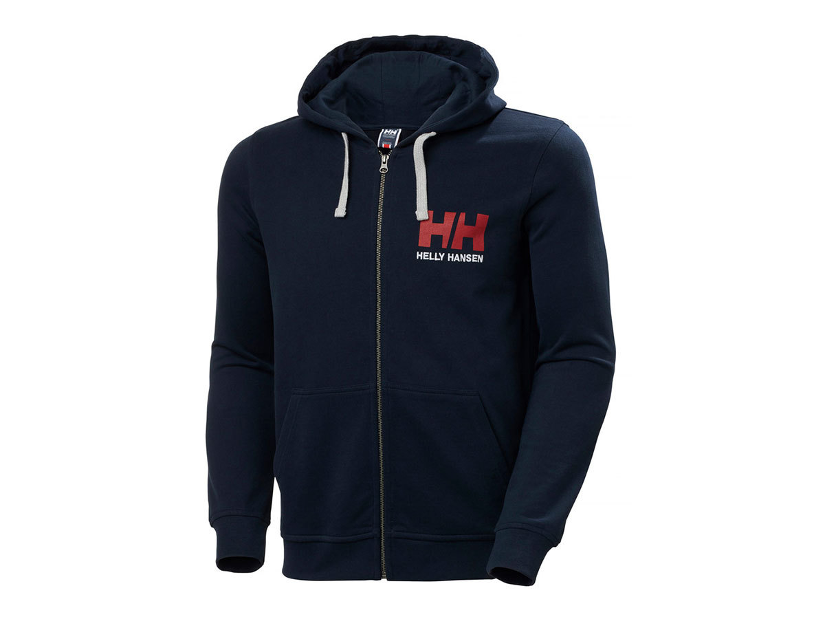 Helly Hansen HH LOGO FULL ZIP HOODIE - NAVY - XL (34163_597-XL ) - AZONNAL ÁTVEHETŐ