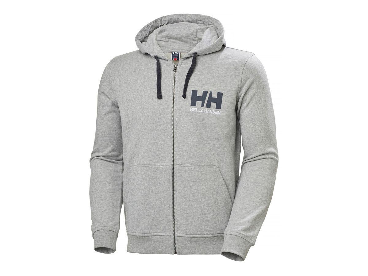 Helly Hansen HH LOGO FULL ZIP HOODIE - GREY MELANGE - L (34163_949-L ) - AZONNAL ÁTVEHETŐ