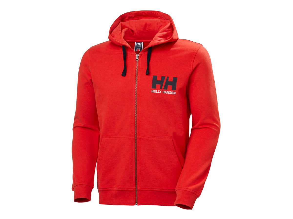 Helly Hansen HH LOGO FULL ZIP HOODIE - ALERT RED - L (34163_222-L ) - AZONNAL ÁTVEHETŐ