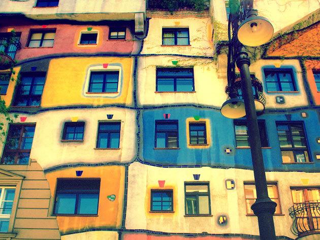 2020. április 25. BÉCS - Hundertwasser-házak - buszos utazás / fő