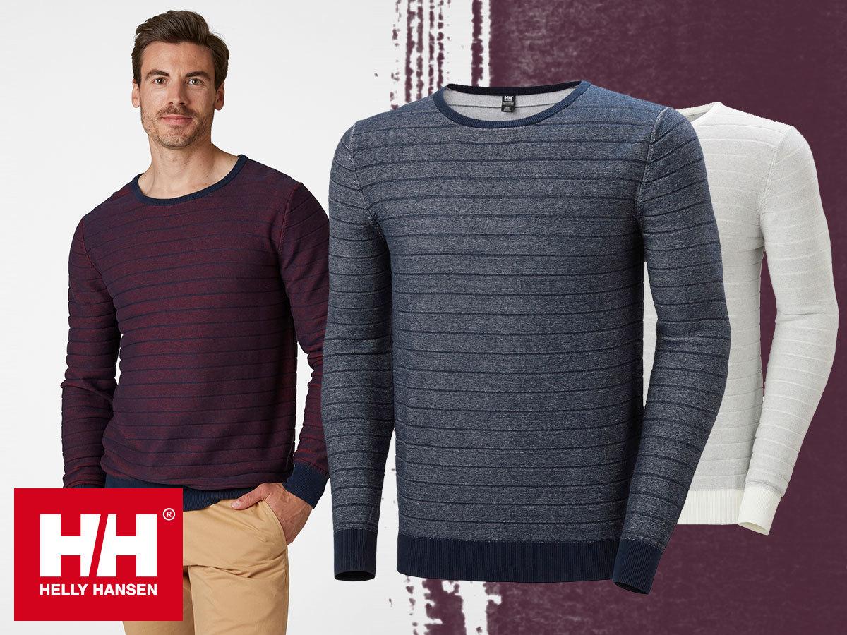 Helly Hansen FJORD SUMMER KNIT férfi pulóverek finomkötött pamut anyagból a könnyed elegancia jegyében (XS-XXL)
