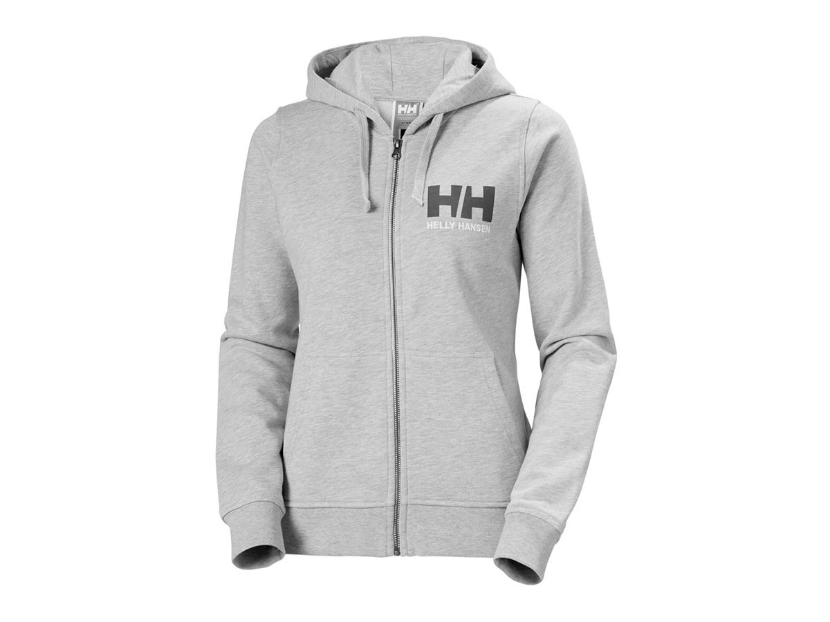 Helly Hansen W HH LOGO FULL ZIP HOODIE - GREY MELANGE - XL (33994_949-XL )