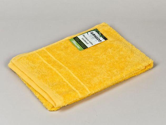 Bambuszos törölköző 50x100cm 0201000371 - mustársárga