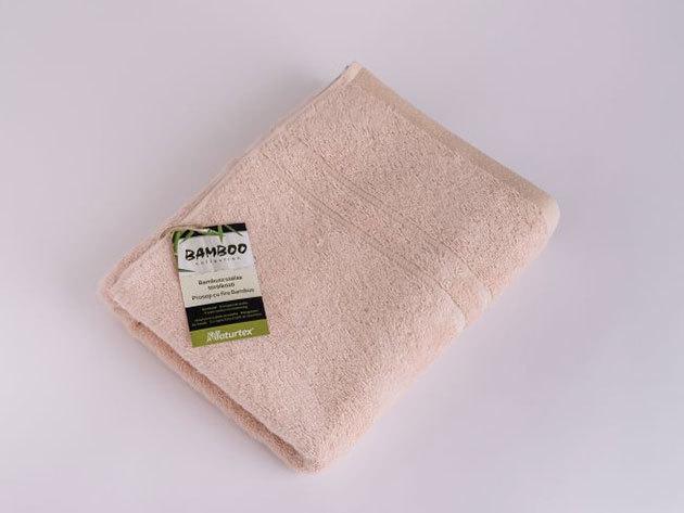 Bambuszos törölköző 50x100cm 0201000373 - púder rózsaszín