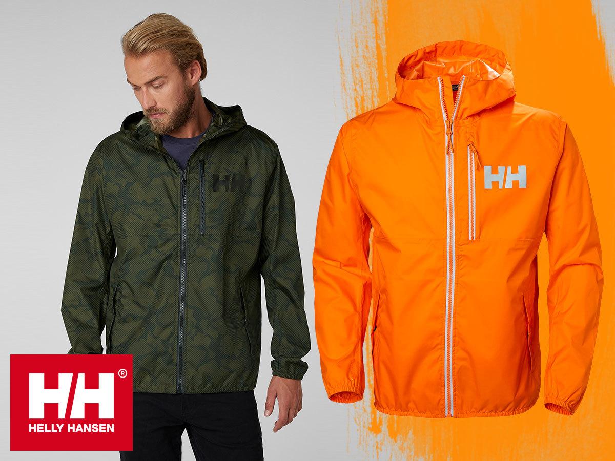 Helly Hansen BELFAST RAIN JACKET - kapucnis esőkabát férfiaknak / a saját zsebébe csomagolható (S-XXL)