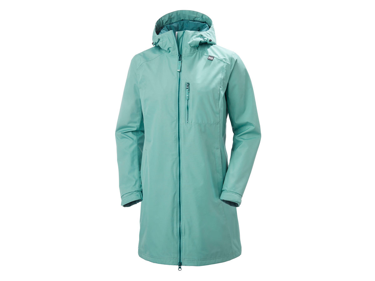 Helly Hansen W LONG BELFAST JACKET - JADE - L (55964_443-L )