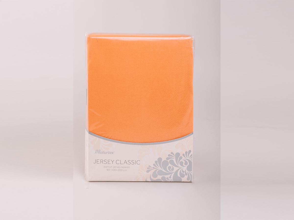 Jersey gumis lepedő 80-100x200cm 0101030263 - narancs