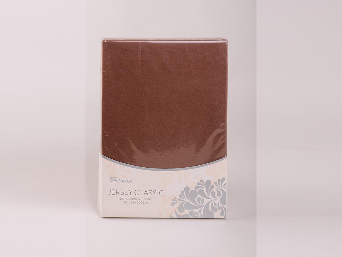 Jersey gumis lepedő 140 -160x200cm  0101030282 - csokibarna