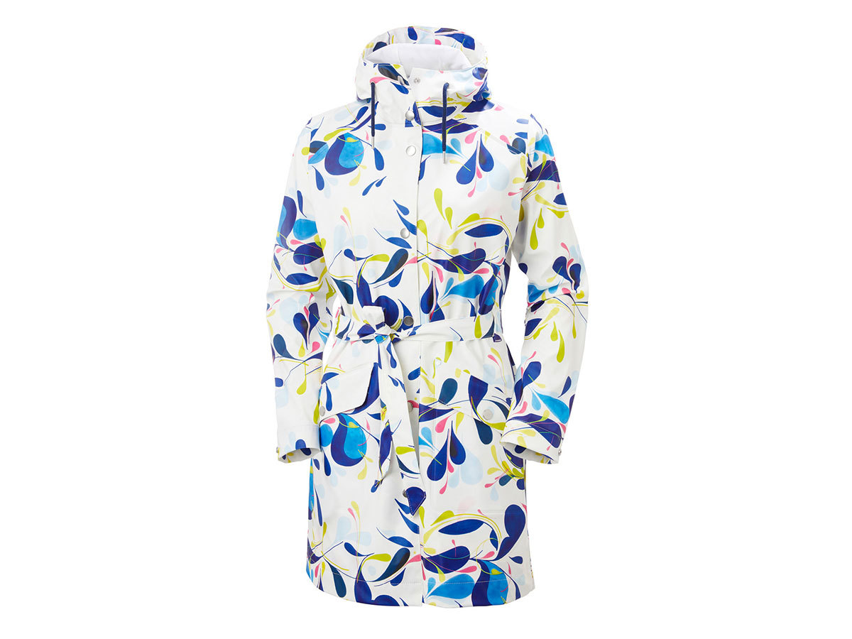 Helly Hansen W KIRKWALL II RAINCOAT - SLING WHITE PRINT - L (53252_049-L )